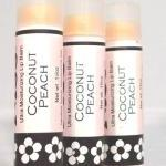 Coconut Peach Lip Balm, Handmade, t..