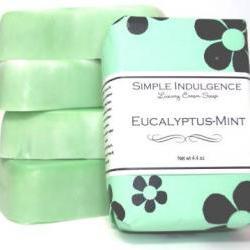 Eucalyptus-Mint Soap, Shea, Simple Indulgence